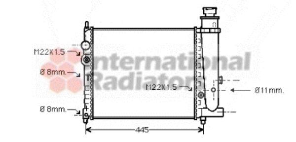 Radiateur, refroidissement du moteur - VAN WEZEL - 40002073