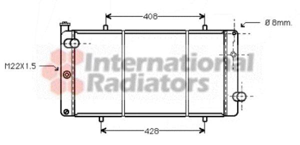 Radiateur, refroidissement du moteur - VWA - 88VWA40002079