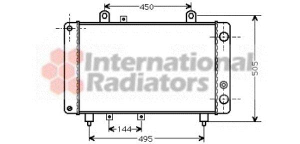 Radiateur, refroidissement du moteur - VAN WEZEL - 40002081