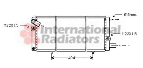 Radiateur, refroidissement du moteur - VAN WEZEL - 40002085