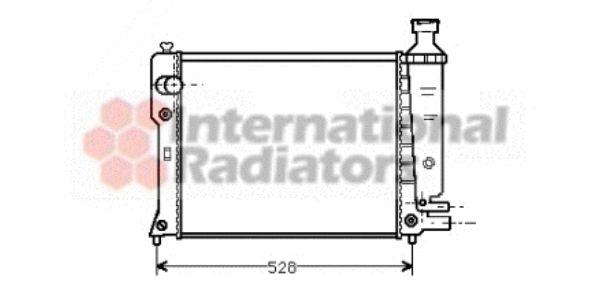 Radiateur, refroidissement du moteur - VAN WEZEL - 40002092