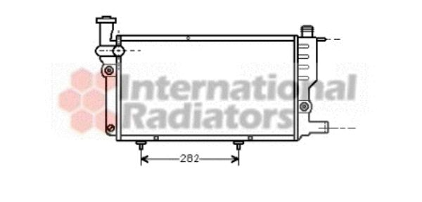 Radiateur, refroidissement du moteur - VAN WEZEL - 40002095