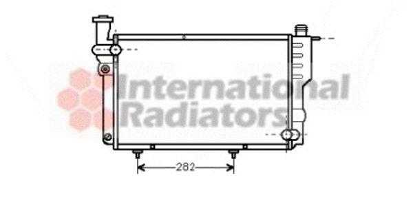 Radiateur, refroidissement du moteur - VAN WEZEL - 40002096