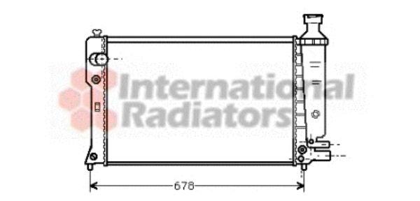 Radiateur, refroidissement du moteur - VAN WEZEL - 40002097