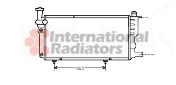 Radiateur, refroidissement du moteur - VAN WEZEL - 40002099