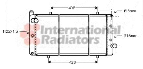 Radiateur, refroidissement du moteur - VAN WEZEL - 40002105