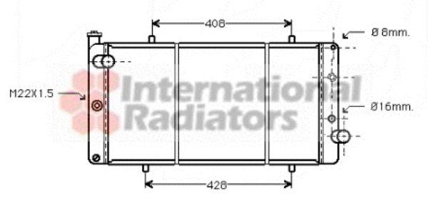 Radiateur, refroidissement du moteur - VAN WEZEL - 40002110