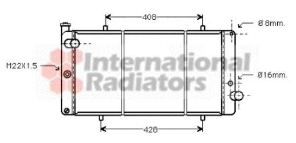 Radiateur, refroidissement du moteur - VAN WEZEL - 40002111