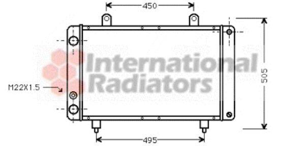 Radiateur, refroidissement du moteur - VAN WEZEL - 40002112