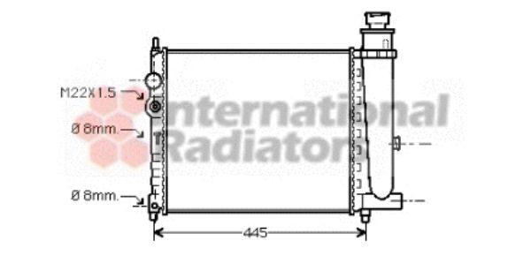 Radiateur, refroidissement du moteur - VAN WEZEL - 40002116