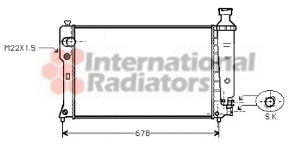Radiateur, refroidissement du moteur - VAN WEZEL - 40002121