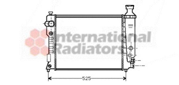 Radiateur, refroidissement du moteur - VAN WEZEL - 40002124