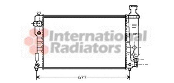 Radiateur, refroidissement du moteur - VAN WEZEL - 40002125