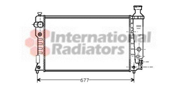 Radiateur, refroidissement du moteur - VAN WEZEL - 40002126