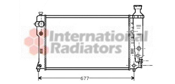 Radiateur, refroidissement du moteur - VAN WEZEL - 40002132