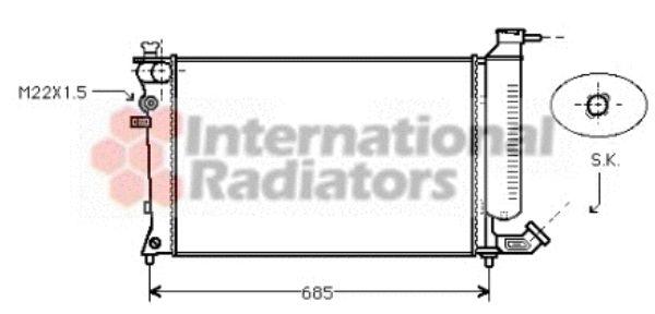 Radiateur, refroidissement du moteur - VAN WEZEL - 40002137