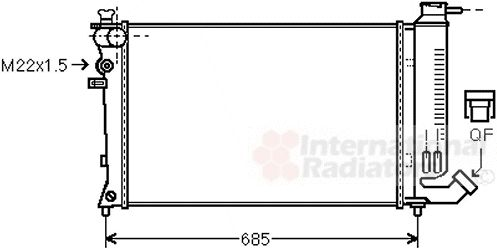 Radiateur, refroidissement du moteur - VWA - 88VWA40002141