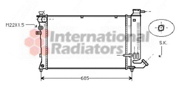 Radiateur, refroidissement du moteur - VWA - 88VWA40002142