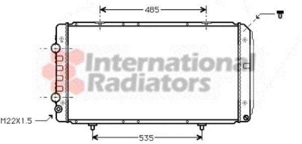 Radiateur, refroidissement du moteur - VAN WEZEL - 40002146