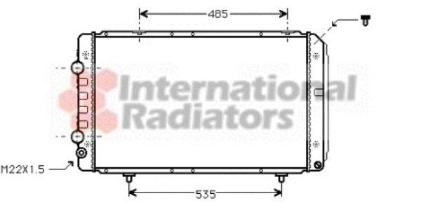 Radiateur, refroidissement du moteur - VAN WEZEL - 40002147