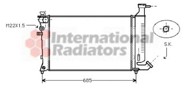 Radiateur, refroidissement du moteur - VAN WEZEL - 40002148