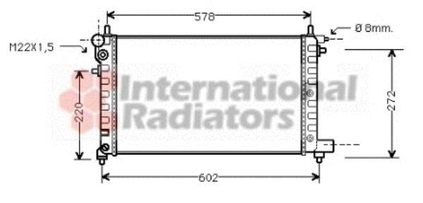 Radiateur, refroidissement du moteur - VAN WEZEL - 40002149