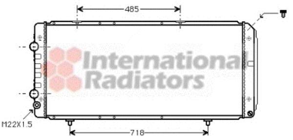 Radiateur, refroidissement du moteur - VAN WEZEL - 40002151