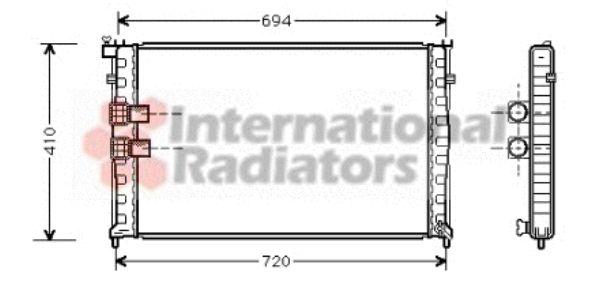 Radiateur, refroidissement du moteur - VAN WEZEL - 40002176