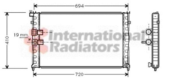 Radiateur, refroidissement du moteur - VAN WEZEL - 40002177