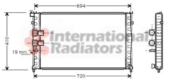 Radiateur, refroidissement du moteur - VAN WEZEL - 40002178