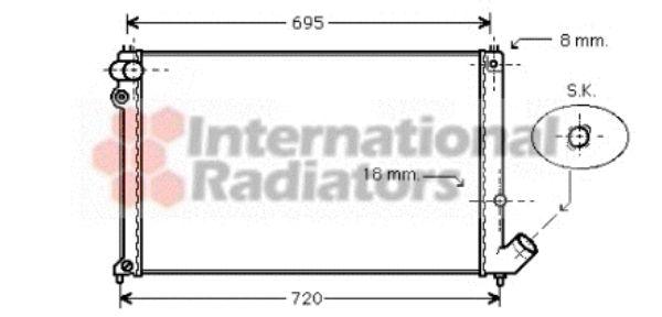 Radiateur, refroidissement du moteur - VAN WEZEL - 40002179