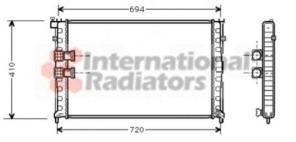 Radiateur, refroidissement du moteur - VAN WEZEL - 40002185
