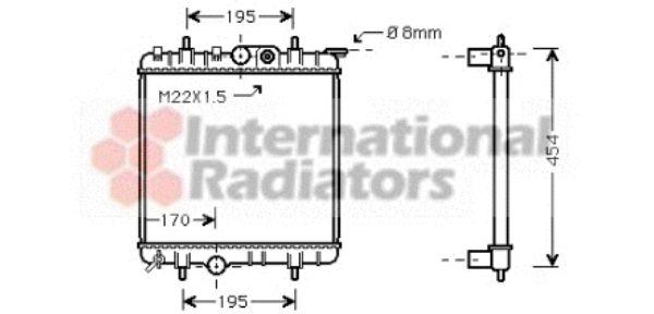 Radiateur, refroidissement du moteur - VAN WEZEL - 40002188