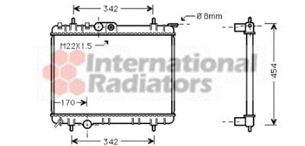 Radiateur, refroidissement du moteur - VAN WEZEL - 40002190