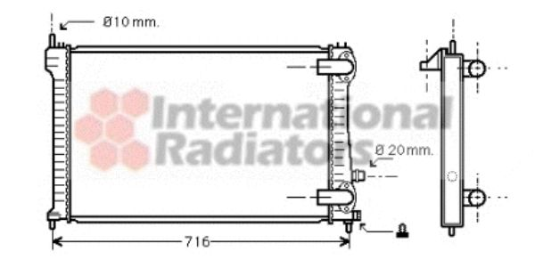 Radiateur, refroidissement du moteur - VWA - 88VWA40002196