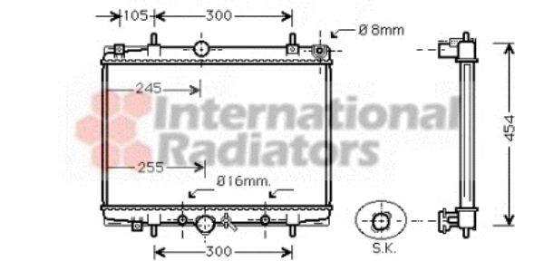 Radiateur, refroidissement du moteur - VAN WEZEL - 40002201