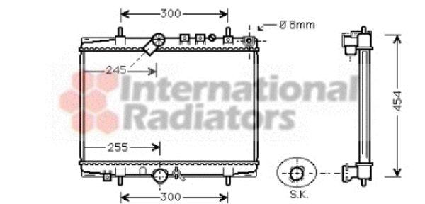 Radiateur, refroidissement du moteur - VAN WEZEL - 40002202