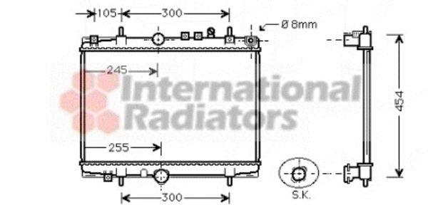 Radiateur, refroidissement du moteur - VAN WEZEL - 40002208