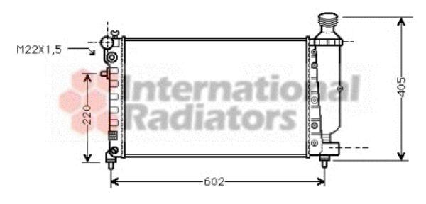 Radiateur, refroidissement du moteur - VAN WEZEL - 40002216