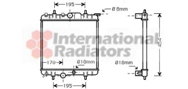 Radiateur, refroidissement du moteur - VAN WEZEL - 40002224