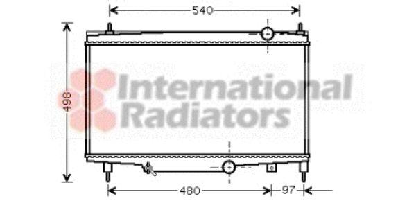 Radiateur, refroidissement du moteur - VAN WEZEL - 40002229