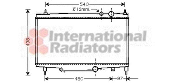 Radiateur, refroidissement du moteur - VAN WEZEL - 40002230