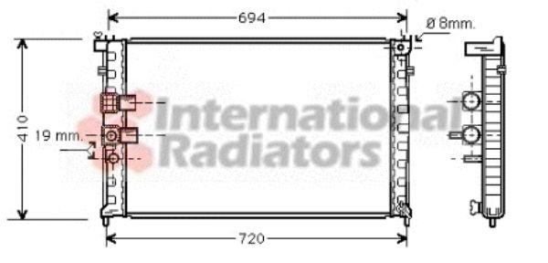 Radiateur, refroidissement du moteur - VAN WEZEL - 40002232