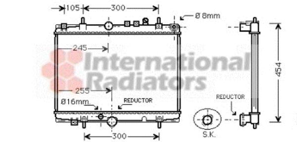 Radiateur, refroidissement du moteur - VAN WEZEL - 40002235