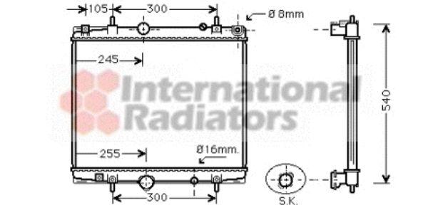 Radiateur, refroidissement du moteur - VAN WEZEL - 40002237