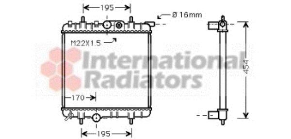 Radiateur, refroidissement du moteur - VAN WEZEL - 40002243