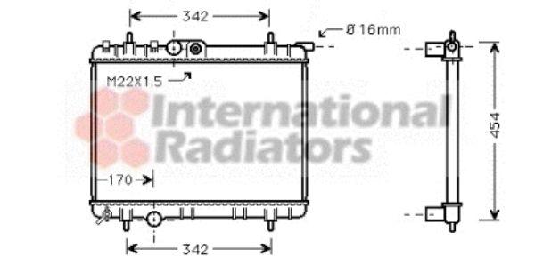 Radiateur, refroidissement du moteur - VAN WEZEL - 40002244