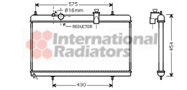 Radiateur, refroidissement du moteur - VAN WEZEL - 40002256