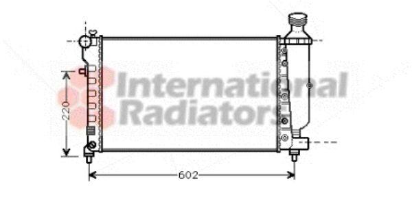 Radiateur, refroidissement du moteur - VAN WEZEL - 40002262