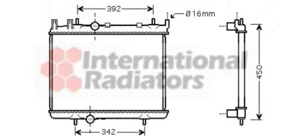 Radiateur, refroidissement du moteur - VAN WEZEL - 40002263